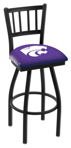 Kansas State Wildcats Swivel Bar Stool with Jailhouse Style Back