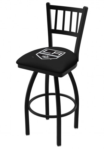Los Angeles Kings Swivel Bar Stool with Jailhouse Style Back