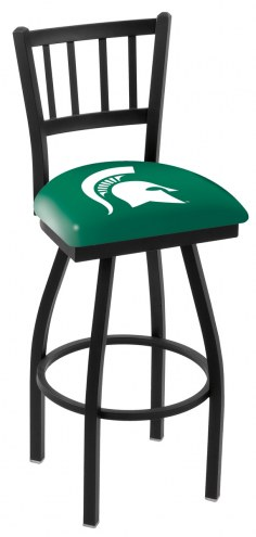 Michigan State Spartans Swivel Bar Stool with Jailhouse Style Back