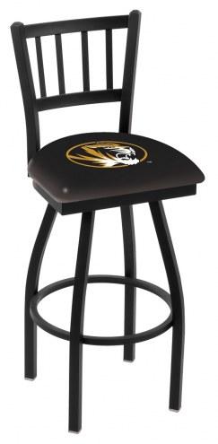 Missouri Tigers Swivel Bar Stool with Jailhouse Style Back