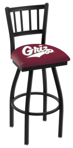 Montana Grizzlies Swivel Bar Stool with Jailhouse Style Back