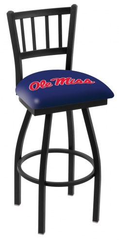 Mississippi Rebels Swivel Bar Stool with Jailhouse Style Back