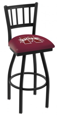 Mississippi State Bulldogs Swivel Bar Stool with Jailhouse Style Back