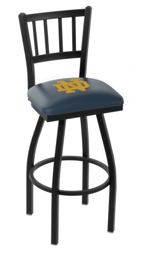 "Notre Dame Fighting Irish ""ND"" Swivel Bar Stool with Jailhouse Back"