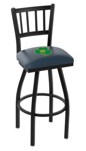 Notre Dame Fighting Irish Swivel Bar Stool with Jailhouse Style Back