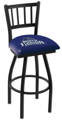 North Florida Ospreys Swivel Bar Stool with Jailhouse Style Back