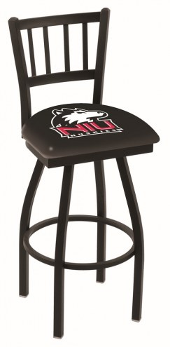 Northern Illinois Huskies Swivel Bar Stool with Jailhouse Style Back