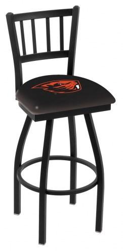 Oregon State Beavers Swivel Bar Stool with Jailhouse Style Back