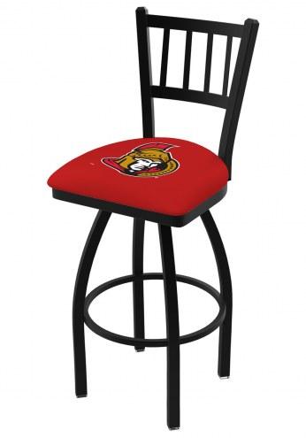 Ottawa Senators Swivel Bar Stool with Jailhouse Style Back