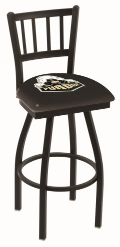 Purdue Boilermakers Swivel Bar Stool with Jailhouse Style Back