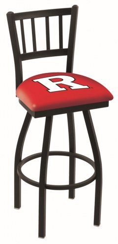 Rutgers Scarlet Knights Swivel Bar Stool with Jailhouse Style Back