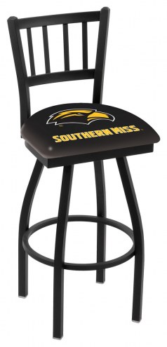Southern Mississippi Golden Eagles Swivel Bar Stool with Jailhouse Style Back