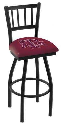 Texas A&M Aggies Swivel Bar Stool with Jailhouse Style Back
