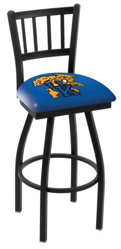 Kentucky Wildcats Swivel Bar Stool with Jailhouse Style Back