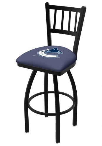 Vancouver Canucks Swivel Bar Stool with Jailhouse Style Back