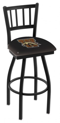 Western Michigan Broncos Swivel Bar Stool with Jailhouse Style Back