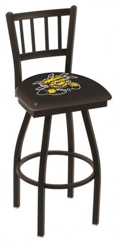 Wichita State Shockers Swivel Bar Stool with Jailhouse Style Back