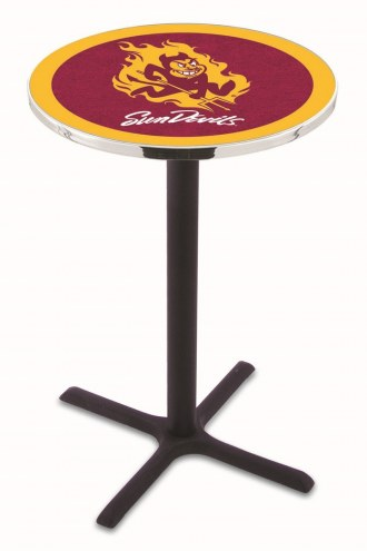 Arizona State Sun Devils Black Wrinkle Bar Table with Cross Base