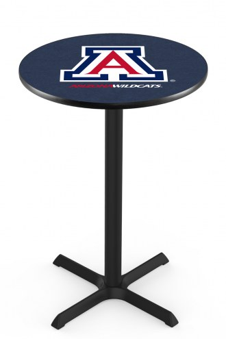 Arizona Wildcats Black Wrinkle Bar Table with Cross Base