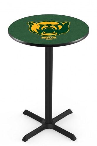 Baylor Bears Black Wrinkle Bar Table with Cross Base