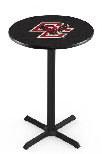 Boston College Eagles Black Wrinkle Bar Table with Cross Base