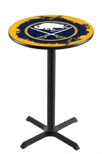 Buffalo Sabres Black Wrinkle Bar Table with Cross Base