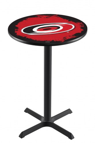 Carolina Hurricanes Black Wrinkle Bar Table with Cross Base