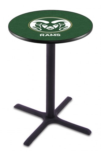 Colorado State Rams Black Wrinkle Bar Table with Cross Base