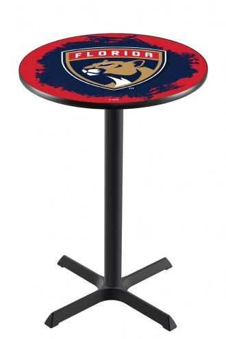 Florida Panthers Black Wrinkle Bar Table with Cross Base