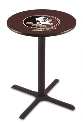 Florida State Seminoles Black Wrinkle Bar Table with Cross Base
