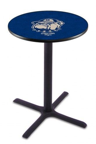 Georgetown Hoyas Black Wrinkle Bar Table with Cross Base
