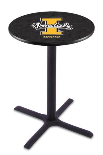 Idaho Vandals Black Wrinkle Bar Table with Cross Base