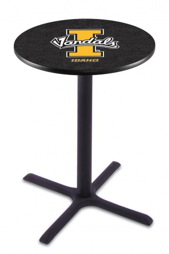 Idaho Vandals Black Wrinkle Bar Table with Cross Base