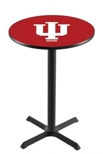 Indiana Hoosiers Black Wrinkle Bar Table with Cross Base
