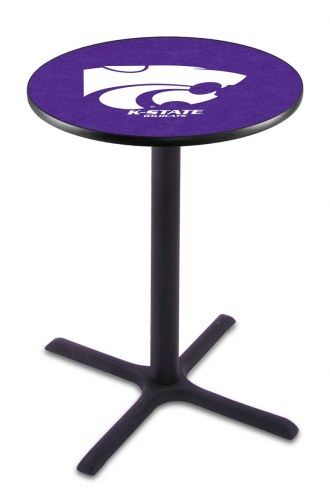 Kansas State Wildcats Black Wrinkle Bar Table with Cross Base