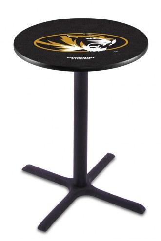 Missouri Tigers Black Wrinkle Bar Table with Cross Base