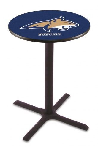 Montana State Bobcats Black Wrinkle Bar Table with Cross Base