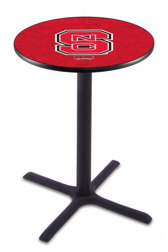 North Carolina State Wolfpack Black Wrinkle Bar Table with Cross Base