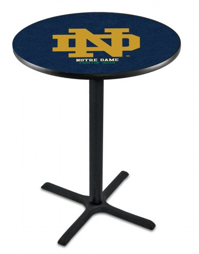 """Notre Dame Fighting Irish """"ND"""" Black Bar Table with Cross Base"""