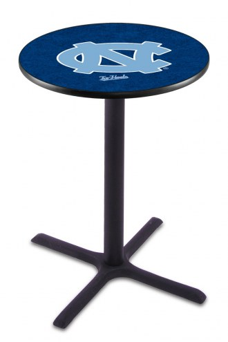 North Carolina Tar Heels Black Wrinkle Bar Table with Cross Base