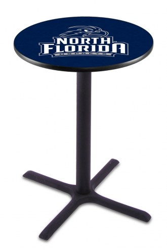 North Florida Ospreys Black Wrinkle Bar Table with Cross Base