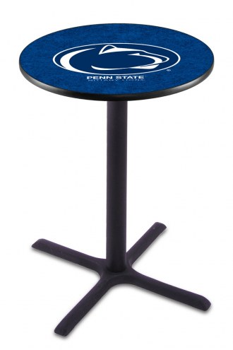 Penn State Nittany Lions Black Wrinkle Bar Table with Cross Base