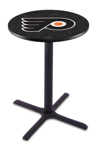Philadelphia Flyers Black Wrinkle Bar Table with Cross Base