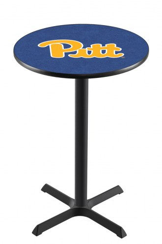 Pittsburgh Panthers Black Wrinkle Bar Table with Cross Base