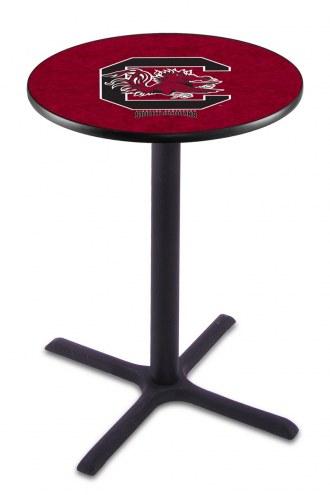 South Carolina Gamecocks Black Wrinkle Bar Table with Cross Base