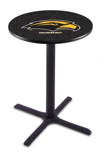 Southern Mississippi Golden Eagles Black Wrinkle Bar Table with Cross Base