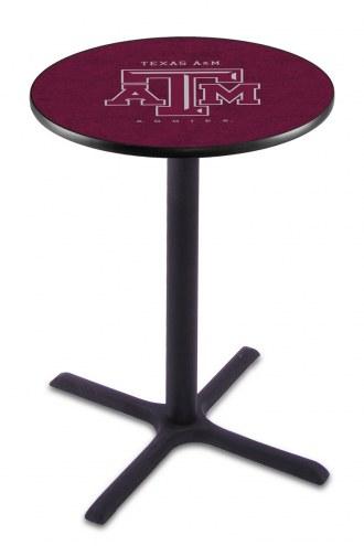Texas A&M Aggies Black Wrinkle Bar Table with Cross Base