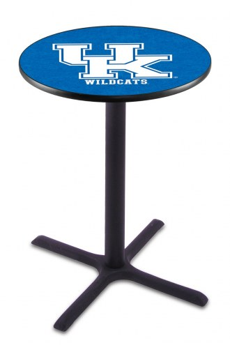 "Kentucky Wildcats ""UK"" Black Bar Table with Cross Base"