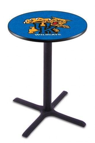 Kentucky Wildcats Black Wrinkle Bar Table with Cross Base