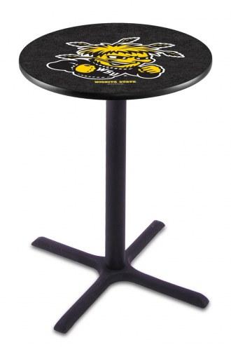 Wichita State Shockers Black Wrinkle Bar Table with Cross Base